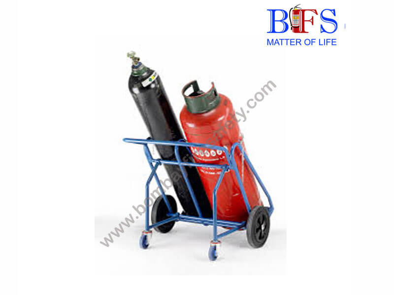 Trolley for fire extinguisher